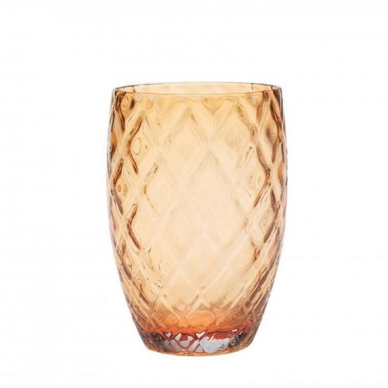 Zafferano Losanghe Set 6 Bicchieri Ambra