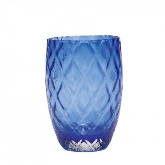 Zafferano Losanghe Set 6 Bicchieri Blu