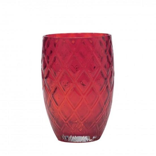 Zafferano Losanghe Set 6 Bicchieri Rosso