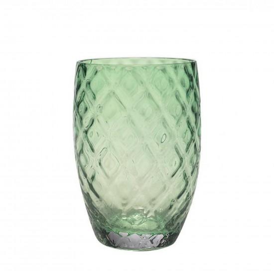 Zafferano Losanghe Set 6 Bicchieri Verde
