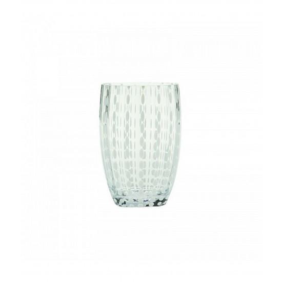 Zafferano Perle Set 6 Bicchieri Trasparente