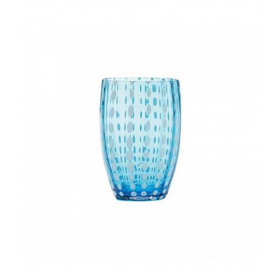 Zafferano Perle Set 6 Bicchieri Acquamarina