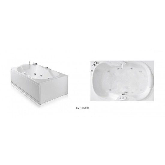 GLASS 1989 LIS EASY WHIRLPOOL BATHTUB