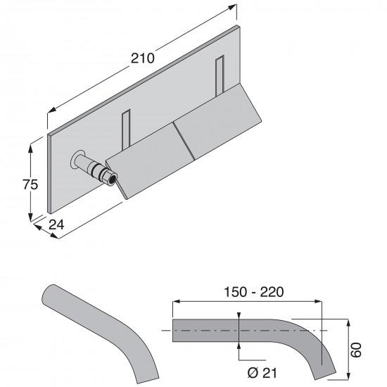 Boffi Wings wall mounted basin mixer