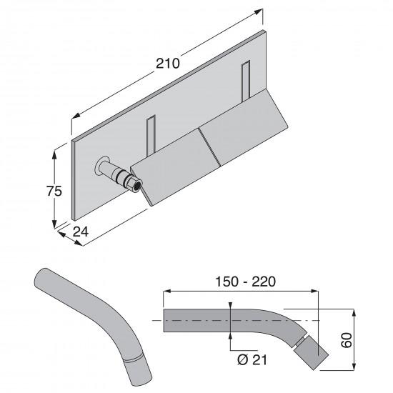 Boffi Wings wall mounted bidet mixer