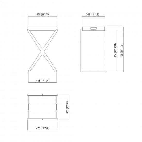 Agape X Tavolino Alto con vassoio