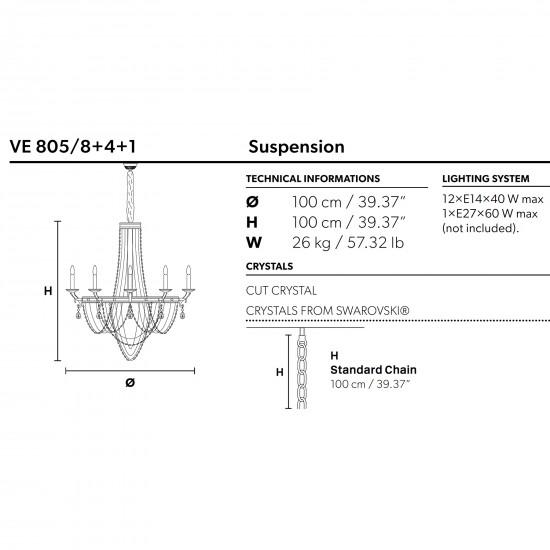 Masiero Impero&Deco lampada a sospensione