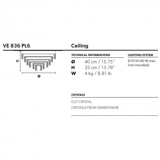 Masiero Impero & Deco lampada a soffitto
