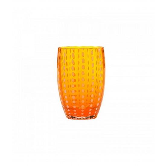 Zafferano Perle Set 6 Bicchieri Arancio