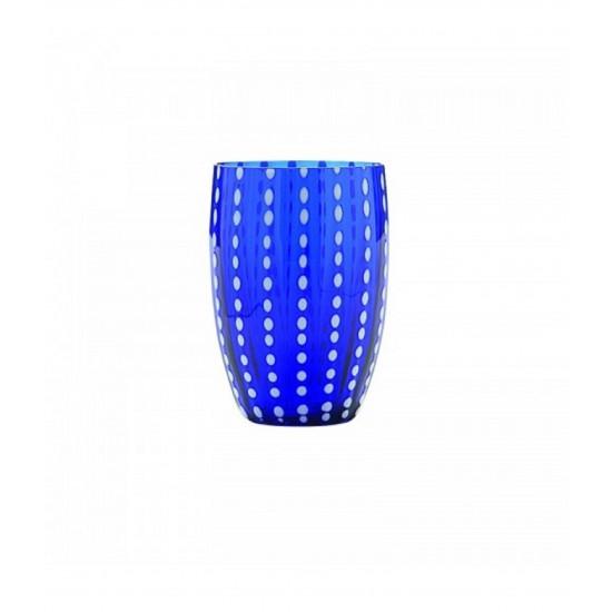 Zafferano Perle Set 6 Bicchieri Blu
