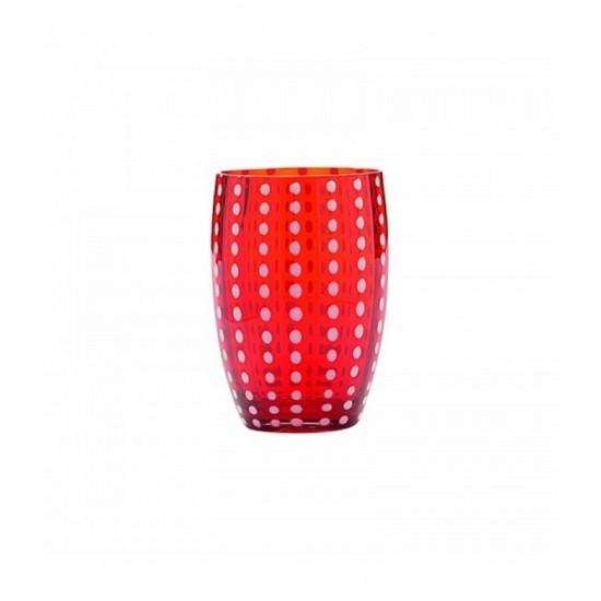 Zafferano Perle Set 6 Bicchieri Rosso