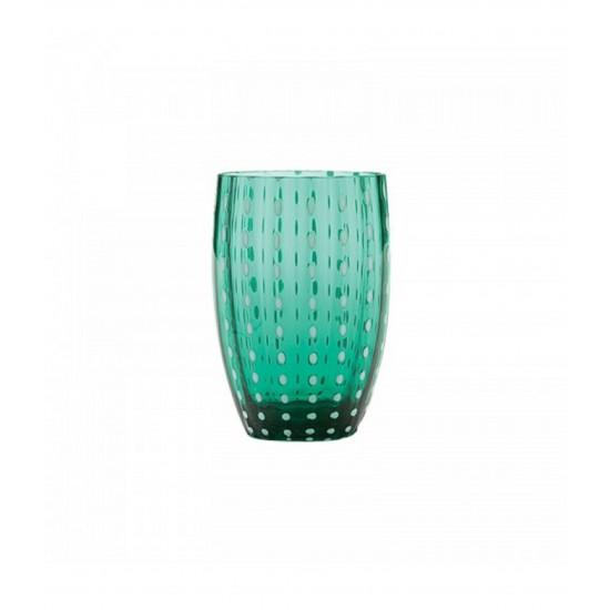 Zafferano Perle Set 6 Bicchieri Verde