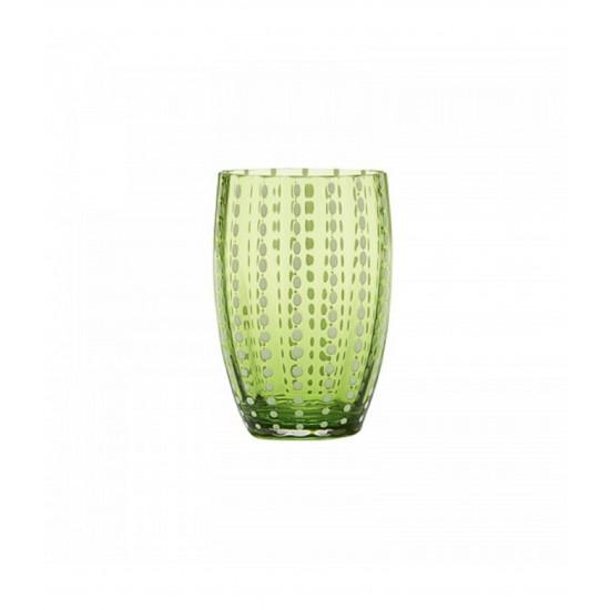 Zafferano Perle Set 6 Bicchieri Verde Mela