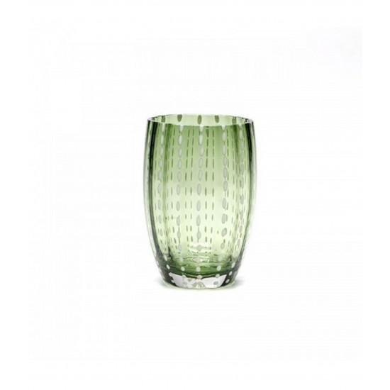 Zafferano Perle Set 6 Bicchieri Verde Inglese