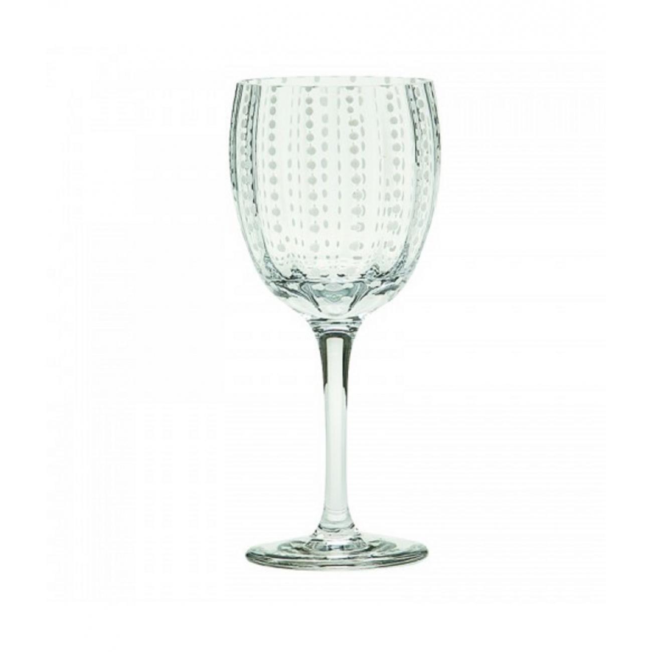 Zafferano Perle Set 2 Wine Glass Clear