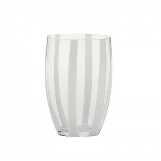 Zafferano Gessato Set 6 Bicchieri Trasparente