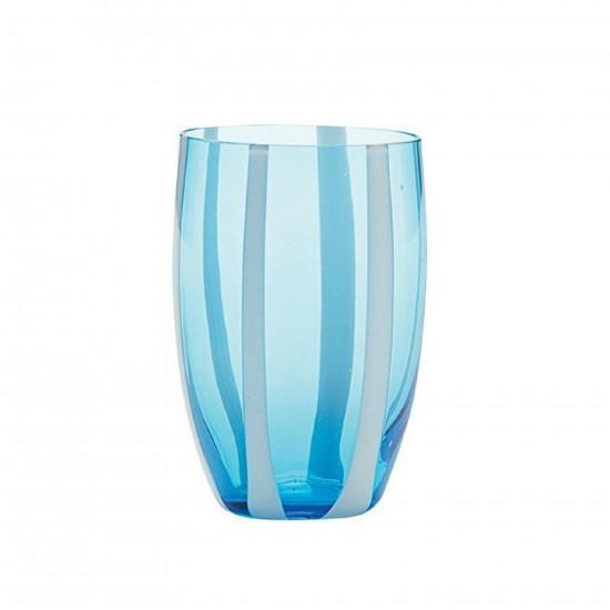 Zafferano Gessato Set 6 Bicchieri Acquamarina