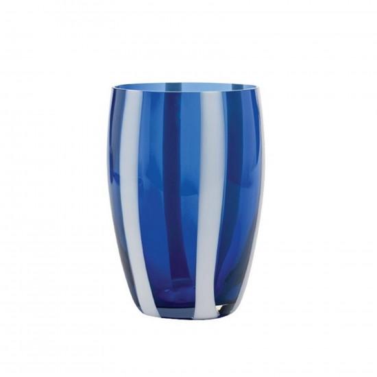 Zafferano Gessato Set 6 Bicchieri Blu