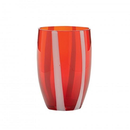 Zafferano Gessato Set 6 Bicchieri Rosso