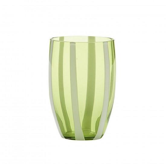 Zafferano Gessato Set 6 Bicchieri Verde Mela