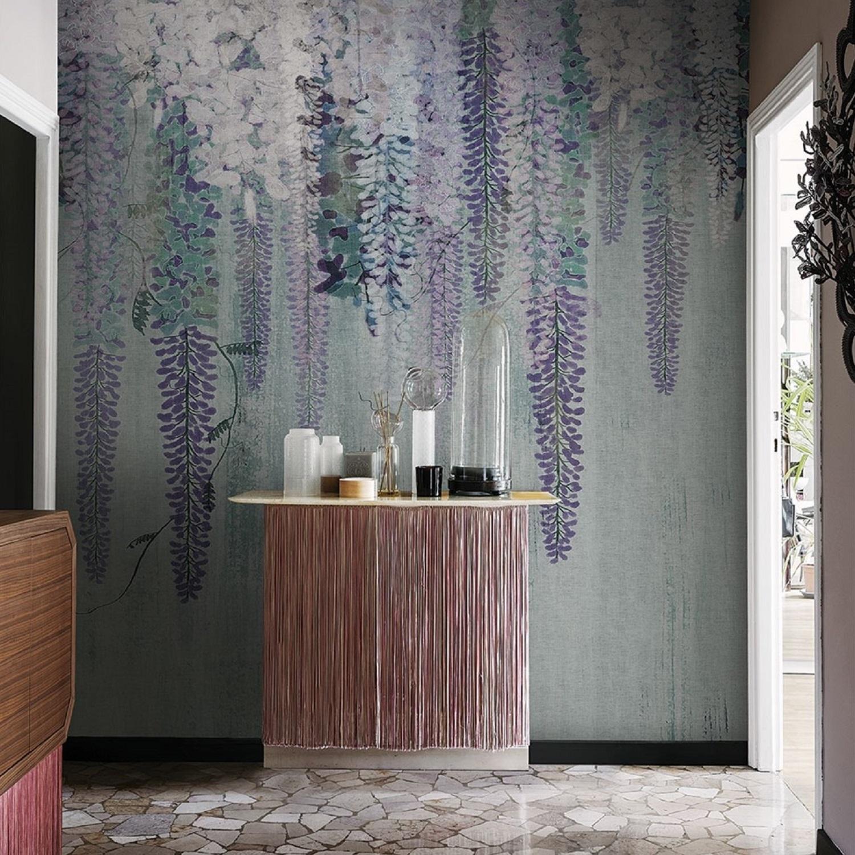 London Art Purple Rain Wallpaper Tattahome