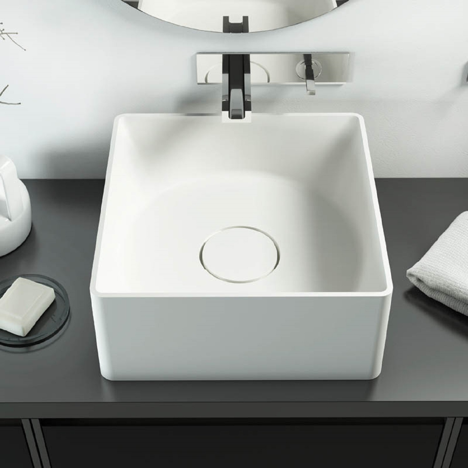 RELAX DESIGN INSIDE OUT Q CIRCLE LUXOLID WASHBASIN - TattaHome