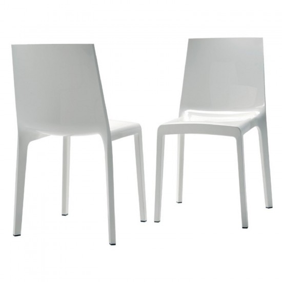 REXITE EVELINE STACKABLE CHAIR WHITE