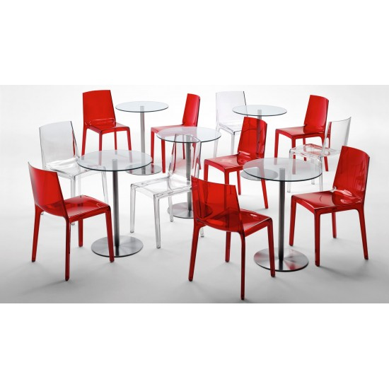 REXITE EVELINE STACKABLE CHAIR CRYSTAL