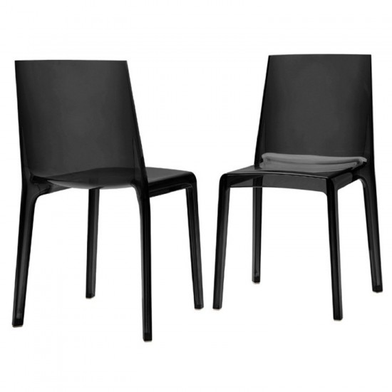 REXITE EVELINE STACKABLE CHAIR TRANSPARENT BLACK