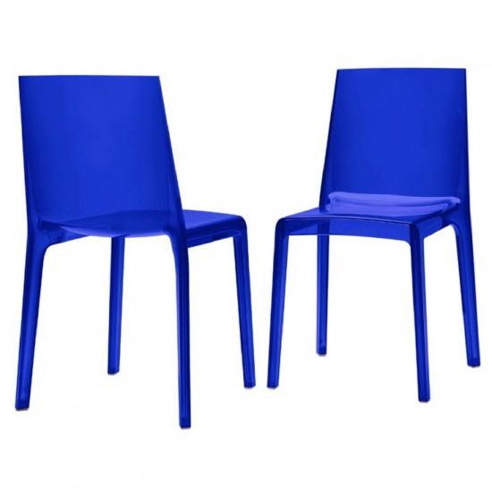 REXITE EVELINE STACKABLE CHAIR TRANSPARENT BLU
