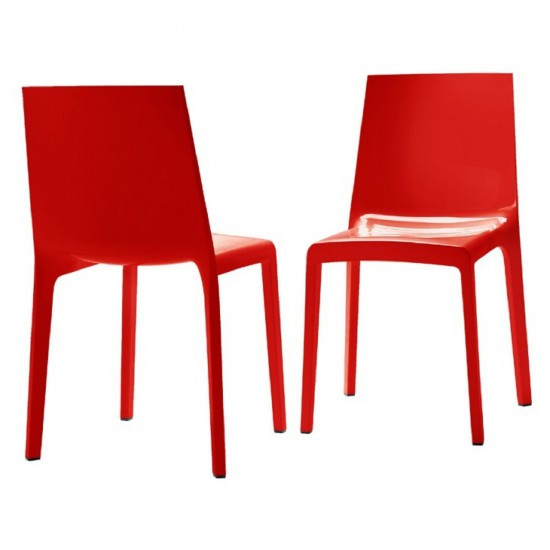 REXITE EVELINE STACKABLE CHAIR RED