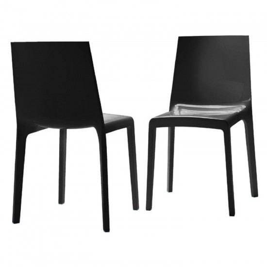 REXITE EVELINE STACKABLE CHAIR BLACK