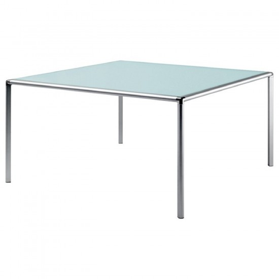 REXITE ENRICO X SQUARE TABLE WITH CRYSTAL TOP