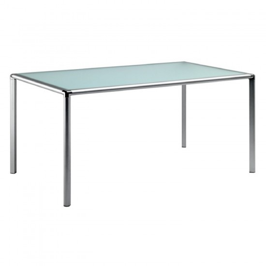 REXITE ENRICO X RECTANGULAR TABLE WITH CRYSTAL TOP