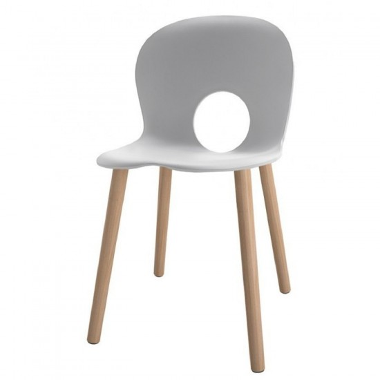 REXITE OLIVIA WOOD CHAIR WHITE
