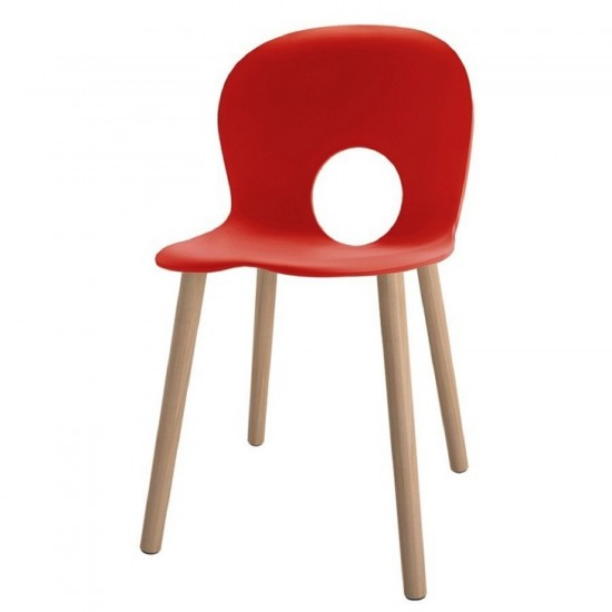 REXITE OLIVIA WOOD CHAIR RED
