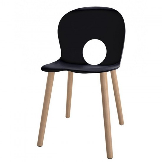 REXITE OLIVIA WOOD CHAIR BLACK