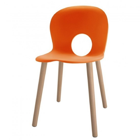 REXITE OLIVIA WOOD CHAIR ORANGE
