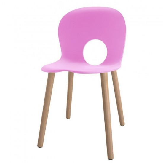 REXITE OLIVIA WOOD CHAIR PINK