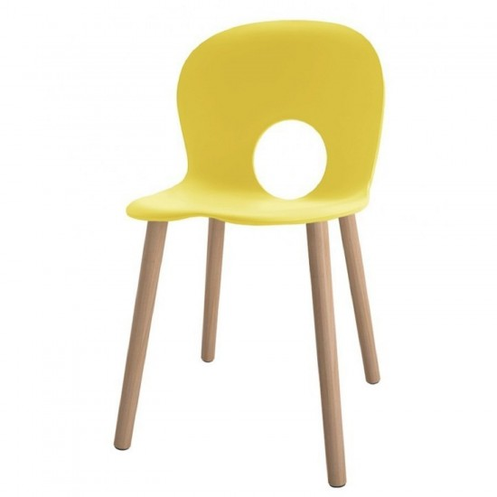 REXITE OLIVIA WOOD CHAIR PRIMROSE YELLOW