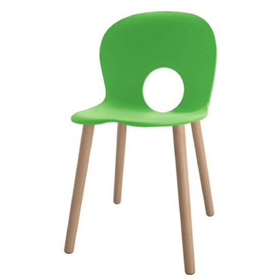 REXITE OLIVIA WOOD CHAIR GRASS GREEN