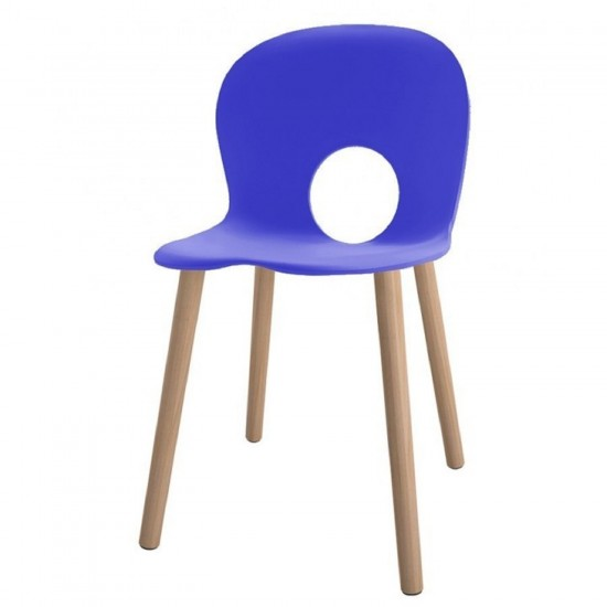 REXITE OLIVIA WOOD CHAIR GENTIAN BLUE