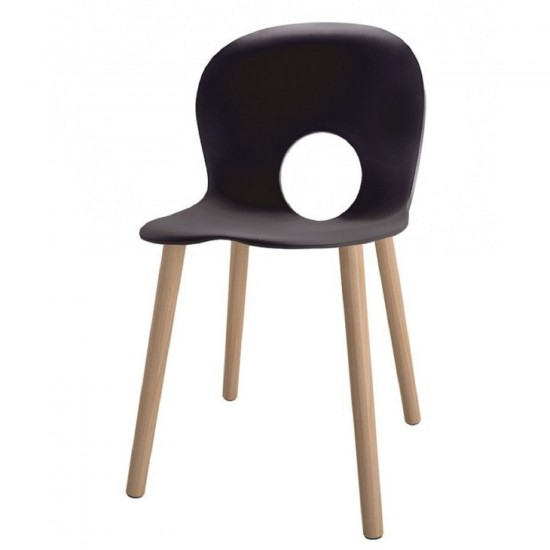 REXITE OLIVIA WOOD CHAIR ANTHRACITE