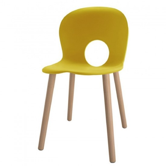 REXITE OLIVIA WOOD CHAIR YELLOW