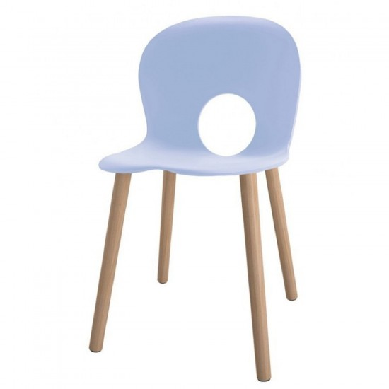 REXITE OLIVIA WOOD CHAIR VERY LIGHT BLUE