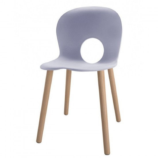 REXITE OLIVIA WOOD CHAIR PEARL GREY