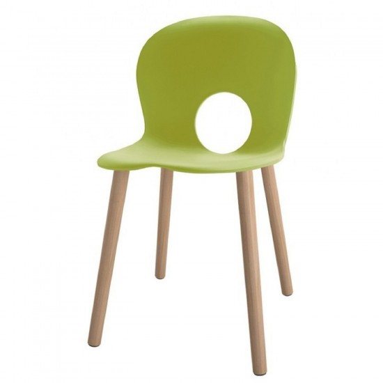 REXITE OLIVIA WOOD CHAIR GREEN