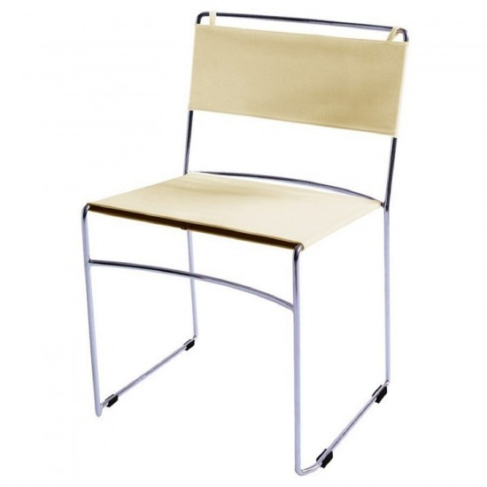 REXITE DELFINA STACKABLE CHAIR IVORY