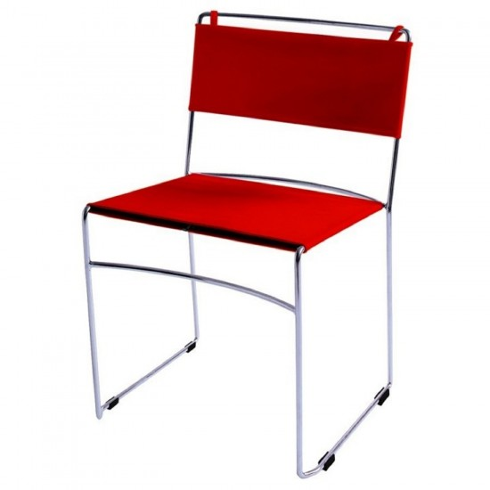 REXITE DELFINA STACKABLE CHAIR RED