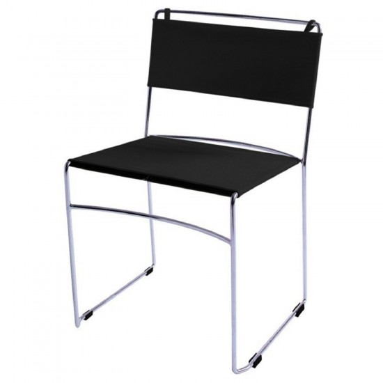 REXITE DELFINA STACKABLE CHAIR BLACK